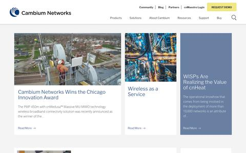Screenshot of Blog cambiumnetworks.com - Blog - Cambium Networks - captured Oct. 31, 2019