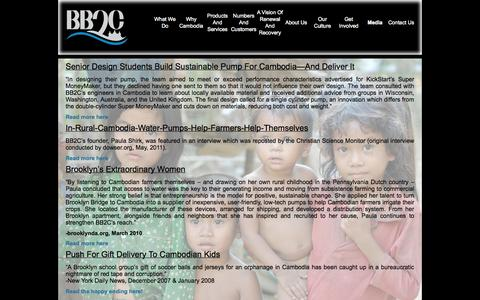 Screenshot of Press Page bb2c.org - Media   bb2c - captured Oct. 5, 2014