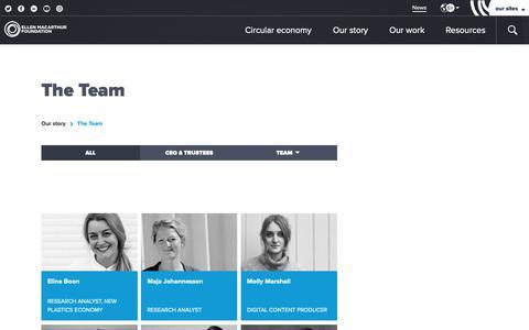 Screenshot of Team Page ellenmacarthurfoundation.org - Who's Who at the Ellen MacArthur Foundation - captured Nov. 4, 2018