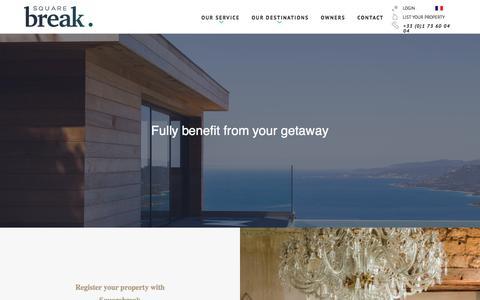 Screenshot of Signup Page squarebreak.com - Owners - captured Feb. 22, 2016