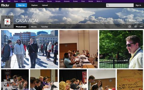 Screenshot of Flickr Page flickr.com - Flickr: CASA-ACAE's Photostream - captured Oct. 22, 2014