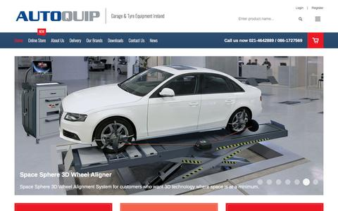 Screenshot of Home Page autoquip.ie - AutoQuip Garage Tyre Equipment Lifts Wheel Alignment systems Ireland - captured April 19, 2017