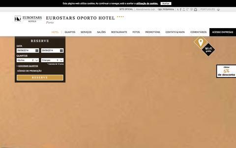 Screenshot of Home Page eurostarsoporto.com - Eurostars Oporto Hotel | Porto - captured Sept. 30, 2014