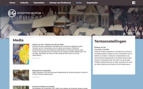 Screenshot of Press Page eindhovenmuseum.nl - Eindhoven Museum - Nieuws-overzicht - captured July 17, 2018