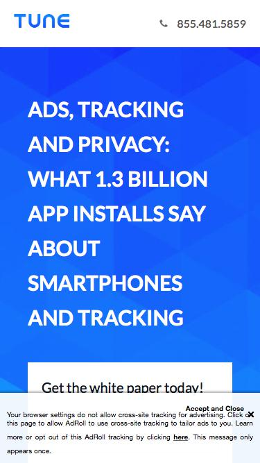 Ads, Tracking, & Privacy What 1.3 Billion App Installs Say About Smartphones and Ad Tracking