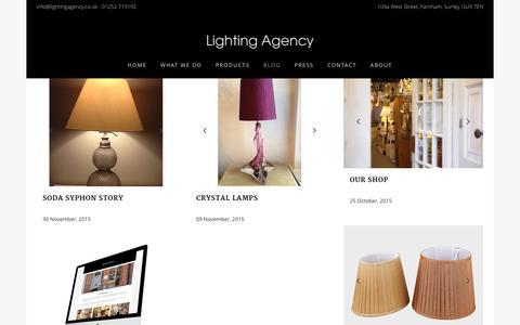 Screenshot of Blog lightingagency.co.uk - Blog Page - Lighting Agency - captured Dec. 9, 2015