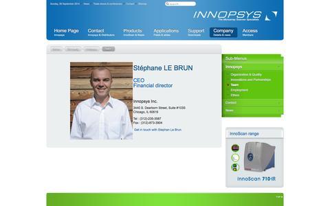 Screenshot of Team Page innopsys.com - Team - Innopsys - captured Sept. 30, 2014