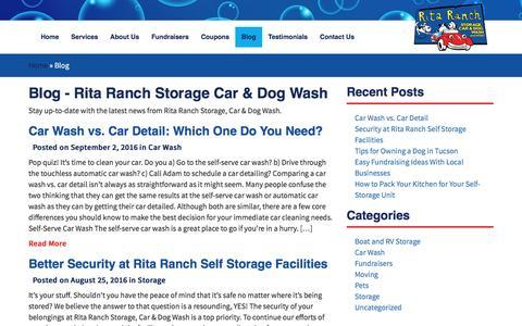 Screenshot of Blog ritaranch.net - Blog - Rita Ranch Storage Car & Dog Wash - captured Nov. 30, 2016