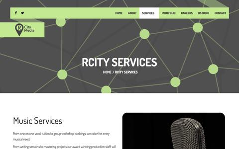 Screenshot of Services Page rcitymedia.com - RCITY SERVICES | RCity Media. - captured Feb. 22, 2016