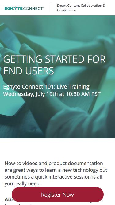 Egnyte Live Training | Getting Started