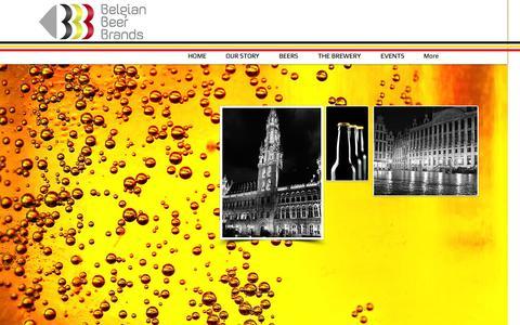 Screenshot of Home Page belgianbeerbrands.net - Belgian Beer Brands - captured Sept. 30, 2014