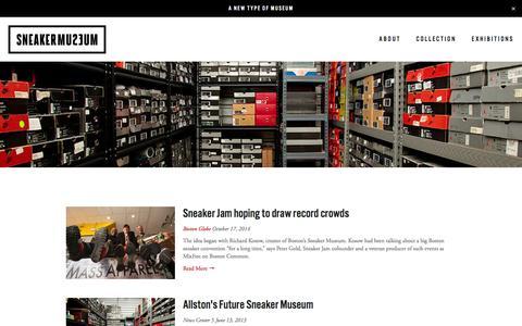Screenshot of Press Page sneakermuseum.com - PRESS — SNEAKER MUSEUM - captured Jan. 11, 2016