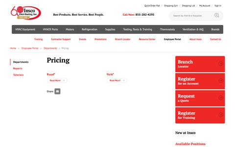 Screenshot of Pricing Page insco.com - Pricing | Insco - captured July 10, 2018