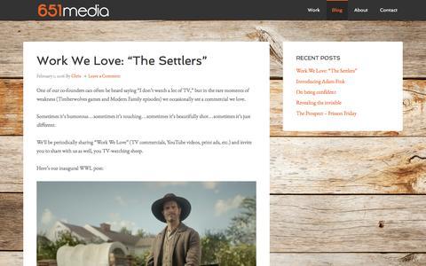 Screenshot of Blog 651media.com - Blog - captured Feb. 27, 2016