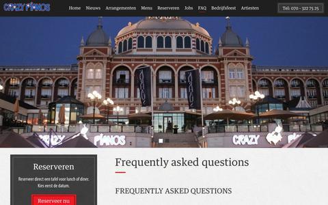 Screenshot of FAQ Page crazypianos.com - FAQ Crazy Pianos   Crazy pianos - captured July 23, 2018