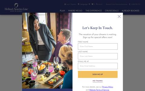 Screenshot of Press Page hollandamerica.com - Cruise News & Press Releases | Holland America - captured June 15, 2019