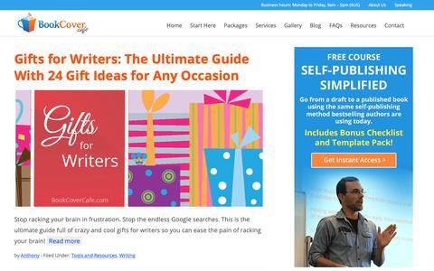 Screenshot of Blog bookcovercafe.com - Book Cover Cafe Blog | Book Cover Cafe - captured Oct. 6, 2018