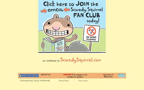 Screenshot of Home Page scaredysquirrel.com - Scaredy Squirrel - captured June 8, 2016