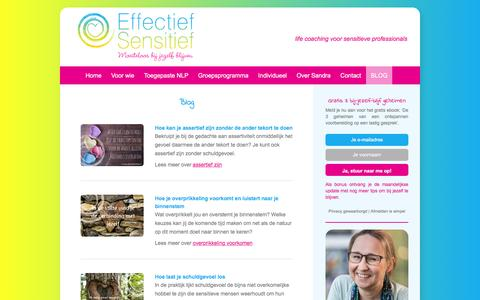 Screenshot of Blog effectiefsensitief.nl - Blog Sensitiviteit, Hoogsensitiviteit, HSP | Effectief Sensitief - captured Dec. 7, 2015