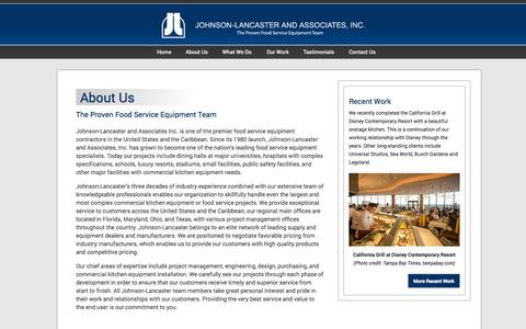 Screenshot of About Page johnson-lancaster.com - About Us | Johnson-Lancaster and Associates - captured Oct. 4, 2014