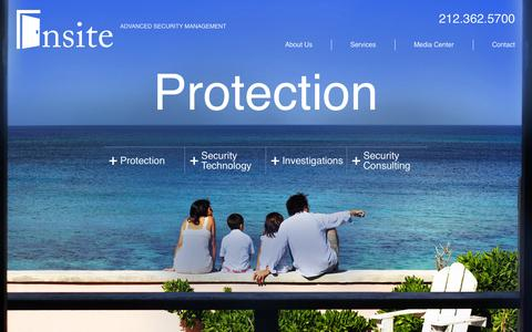Screenshot of Home Page insitesecurity.com - Insite – Advanced Security ManagementHome | Insite - Advanced Security Management - captured Sept. 30, 2014
