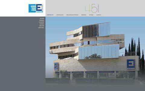 Screenshot of Home Page ecisa.es - corporacion - captured Sept. 19, 2014