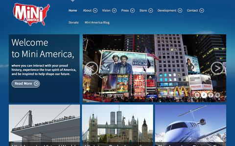 Screenshot of Home Page miniamerica.org - Welcome to Mini America - captured Oct. 7, 2014