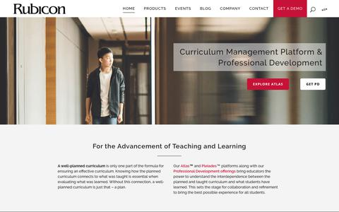 Screenshot of Home Page rubicon.com - Rubicon | Curriculum Solutions for Personalized Learning & Student Achievement - captured Jan. 29, 2018