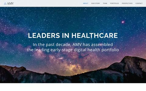 Screenshot of About Page assetman.com - AMV - Early Stage Venture Capital in Digital Health - captured Oct. 9, 2017