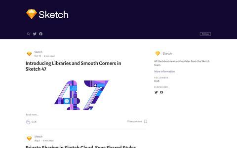 Screenshot of Blog sketchapp.com - Sketch - captured Oct. 10, 2017