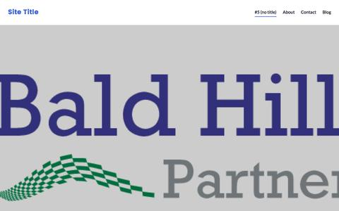 Screenshot of Home Page baldhillpartners.com - Site Title - captured May 31, 2017