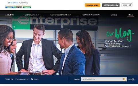 Screenshot of Blog enterprise.com - Jobs at Enterprise Holdings - captured Nov. 19, 2018