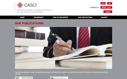 Screenshot of Testimonials Page casci.ch - casci | OUR PUBLICATIONS - captured Nov. 21, 2016