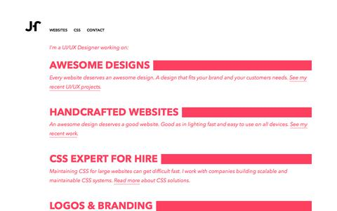 Screenshot of Home Page johanharteveld.nl - Johan Harteveld – freelance UI/UX Designer & Consultant - captured June 8, 2017