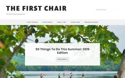 Screenshot of Blog sundayriver.com - THE FIRST CHAIR – The official blog of Sunday River - captured Nov. 13, 2019