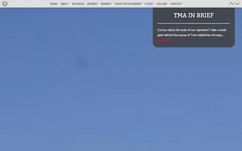 Screenshot of About Page transmaldivian.com - Maldivian Airlines, Maldives Airways & Maldives Sea Plane - captured Sept. 19, 2014
