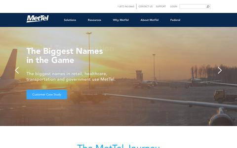 Screenshot of Home Page mettel.net - MetTel | Business Telecom | Data & Network Services - captured July 2, 2018