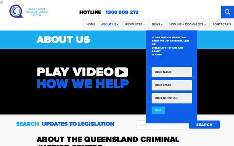 Screenshot of About Page qcjc.com.au - About - Criminal Justice Systems - Queensland Criminal Justice Center - captured Nov. 15, 2016