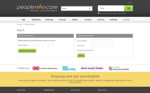 Screenshot of Login Page peoplewhocare.dk - Login - Peoplewhocare.dk - captured Sept. 29, 2014