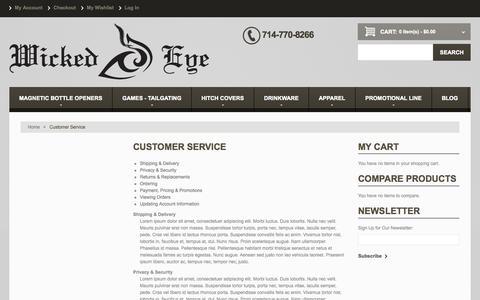 Screenshot of Support Page wickedeye.net - Customer Service - captured Oct. 9, 2014
