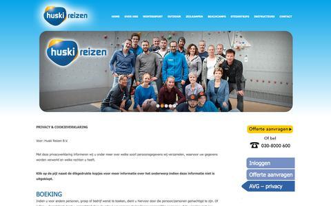 Screenshot of Privacy Page huski.nl - AVG – privacy - captured Nov. 11, 2018
