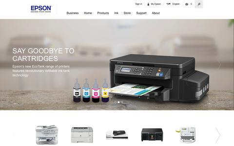 Screenshot of Home Page epson.co.uk - Welcome to Epson United Kingdom - captured June 23, 2017