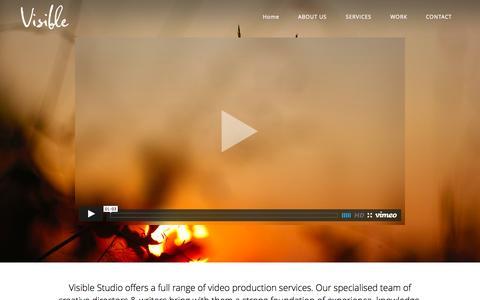 Screenshot of Home Page visiblestudio.com.au - Visible Studio | Melbourne Film Production - captured Sept. 30, 2014