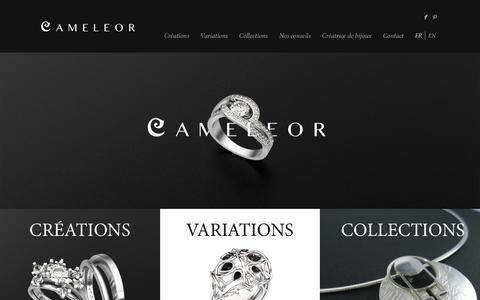 Screenshot of Home Page cameleor.com - Cameleor | CrŽation de bijoux sur mesure - captured Dec. 6, 2015