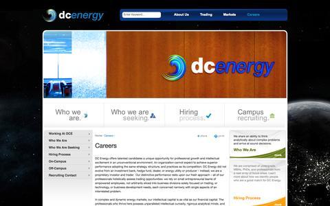 Screenshot of Jobs Page dc-energy.com - Careers | DC Energy - captured Sept. 30, 2014