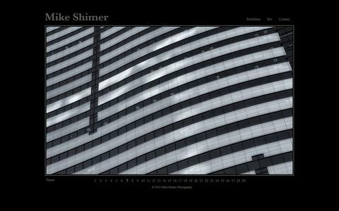 Screenshot of Home Page mikeshimer.com - Mike Shimer Photography :: Specializing in Life Stories, Editorial, Portrait and Landscape Photography - captured Feb. 13, 2016