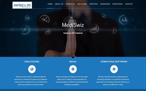 Screenshot of Home Page swizcom.com - Swizcom - captured Sept. 23, 2015