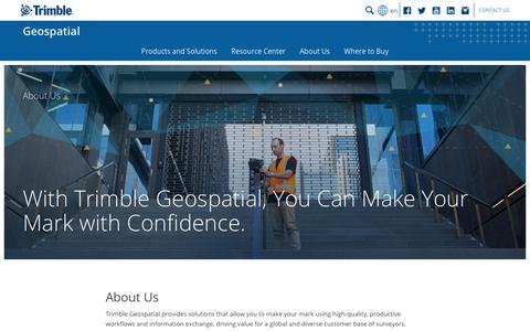 Screenshot of About Page trimble.com - The Trimble Geospatial Advantage | Trimble Geospatial - captured Oct. 5, 2018