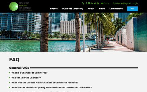 Screenshot of FAQ Page miamichamber.com - GMCC FAQs | Greater Miami Chamber of Commerce - captured Sept. 19, 2017