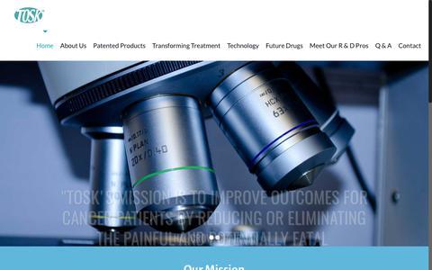 Screenshot of Home Page tosk.com - Tosk - captured Oct. 28, 2017